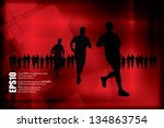 sport vector illustration | Shutterstock .eps vector #134863754