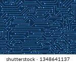 circuit board  technology... | Shutterstock .eps vector #1348641137