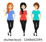 set  girls with different... | Shutterstock .eps vector #1348642394