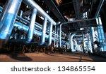 industrial zone  steel... | Shutterstock . vector #134865554