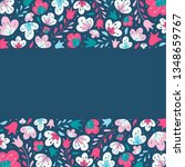 cute floral borders with empty...   Shutterstock .eps vector #1348659767