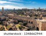 jerusalem city and david's... | Shutterstock . vector #1348662944