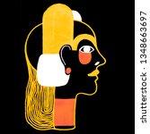 woman portrait in modern... | Shutterstock . vector #1348663697