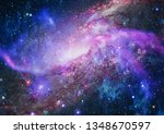 colorful deep space. universe... | Shutterstock . vector #1348670597