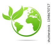 world environmental  saving... | Shutterstock .eps vector #1348670717