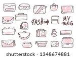 set of woman handbags.... | Shutterstock .eps vector #1348674881