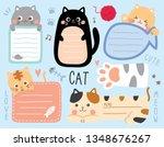 set cute cat. template for... | Shutterstock .eps vector #1348676267