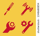 wrench icon set with... | Shutterstock .eps vector #1348680854