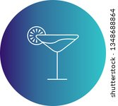 illustration cocktail icon  | Shutterstock . vector #1348688864