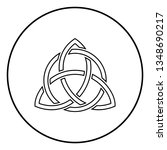 triquetra in circle trikvetr... | Shutterstock .eps vector #1348690217