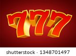 golden slot machine 777 wins... | Shutterstock .eps vector #1348701497