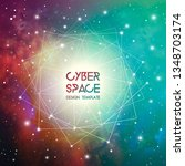cyberspace and network... | Shutterstock .eps vector #1348703174