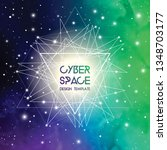 cyberspace and network... | Shutterstock .eps vector #1348703177