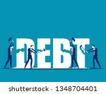 destruction of debt. concept... | Shutterstock .eps vector #1348704401