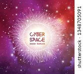 cyberspace and network... | Shutterstock .eps vector #1348705091