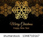 merry christmas greeting card.... | Shutterstock .eps vector #1348710167