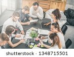 young business people meeting... | Shutterstock . vector #1348715501
