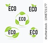 natural logo vector design set | Shutterstock .eps vector #1348721177