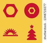 pine icon set with christmas... | Shutterstock .eps vector #1348723277
