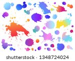 colorful collection set of art... | Shutterstock .eps vector #1348724024