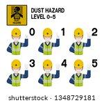 set of industrial worker with... | Shutterstock .eps vector #1348729181