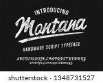 montana. vintage brush script.... | Shutterstock .eps vector #1348731527