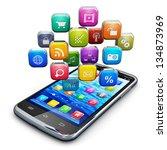 mobile applications  business...   Shutterstock . vector #134873969