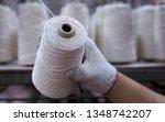 hands man working in textile... | Shutterstock . vector #1348742207