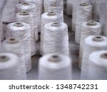 row of textile threads industry ... | Shutterstock . vector #1348742231