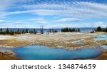 Panorama of West Thumb Geyser Basin, Yellowstone, United States