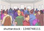 illustration of students... | Shutterstock .eps vector #1348748111