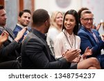 group of businessmen and... | Shutterstock . vector #1348754237