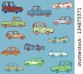 cars on background | Shutterstock .eps vector #134875571