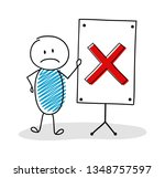 business cartoon person with... | Shutterstock .eps vector #1348757597