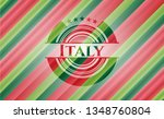 italy christmas style badge.. | Shutterstock .eps vector #1348760804