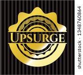 upsurge gold badge or emblem | Shutterstock .eps vector #1348760864
