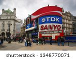 picadilly circus london great... | Shutterstock . vector #1348770071