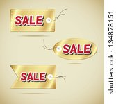discount vector label collection | Shutterstock .eps vector #134878151
