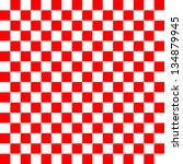 red and white checkered... | Shutterstock . vector #134879945