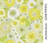 seamless floral pattern with... | Shutterstock .eps vector #1348799591