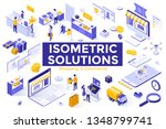 bundle of isometric symbols or... | Shutterstock .eps vector #1348799741