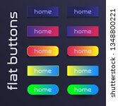 set of colored web buttons.... | Shutterstock .eps vector #1348800221