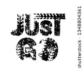just go. off road hand drawn... | Shutterstock .eps vector #1348804361