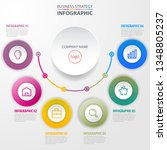 business infographics  strategy ... | Shutterstock .eps vector #1348805237