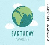 earth day. 22 april. flat... | Shutterstock .eps vector #1348808444