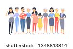 set of a group of different... | Shutterstock .eps vector #1348813814