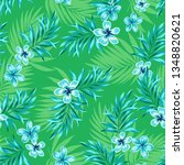 tropical vector pattern with... | Shutterstock .eps vector #1348820621