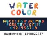 watercolor english creative...   Shutterstock .eps vector #1348822757