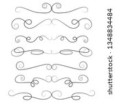ornament frames and scroll... | Shutterstock .eps vector #1348834484