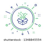 gift box open line icon.... | Shutterstock .eps vector #1348845554